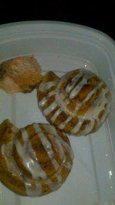Salmon & Cinnamon Rolls